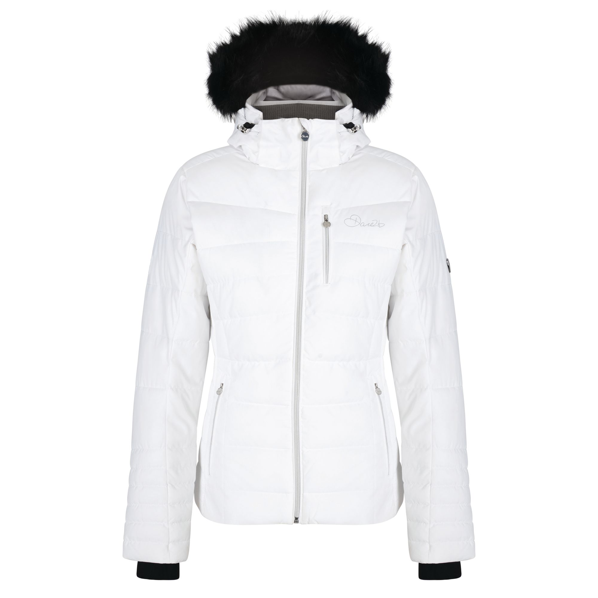 Dare2B Curator Luxe Womens Ski Jacket White Quilted Breathable Waterproof Fabric