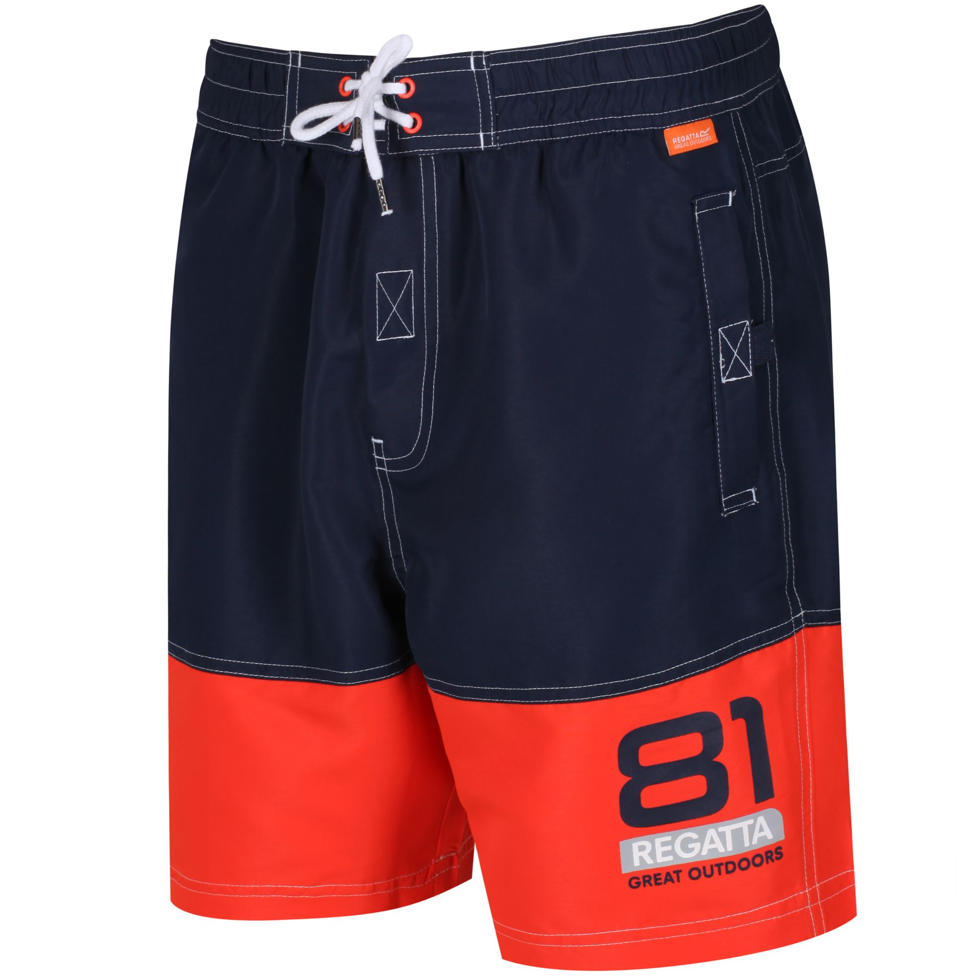 2feb0b8663 Regatta BRACHTMAR II SWIM SHORTS - Navy Amber Glow