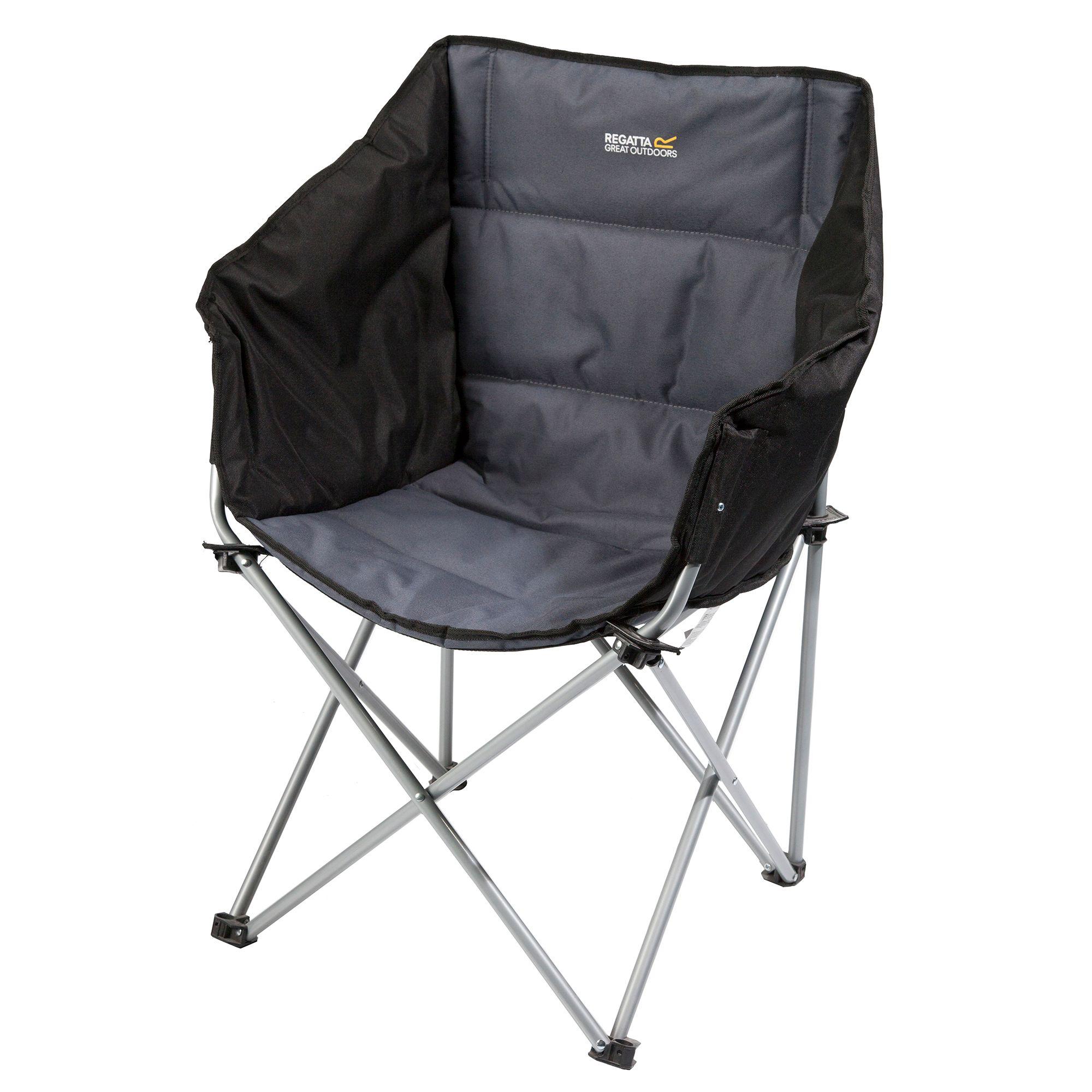 regatta navas lightweight folding camping chair with storage bag